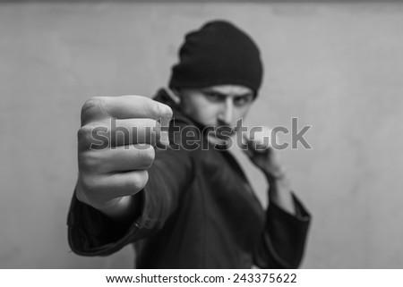 Teen bully - stock photo
