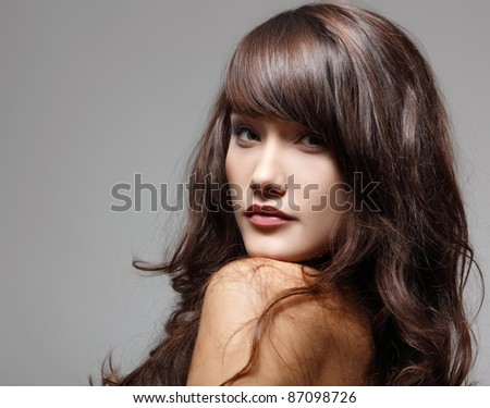 teen girl beautiful cheerful enjoying isolated
