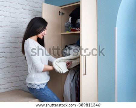 Teen girl gets  sweater with wardrobe