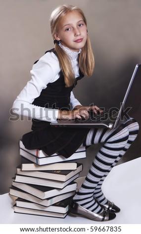 Teen Girl In School Uniform