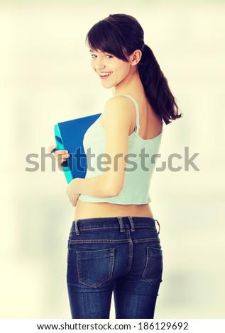 Teen student girl  - stock photo