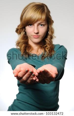 hands photo teen girl