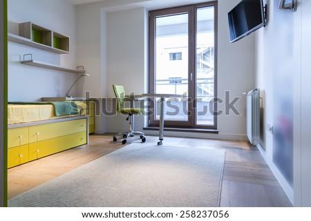 Teenage boy room - stock photo