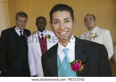 Teenage Boys Looking Good - stock photo