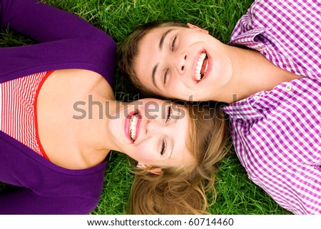Teenage couple - stock photo