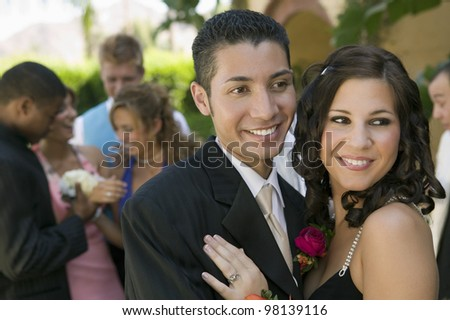 Teenage Couple at Prom - stock photo