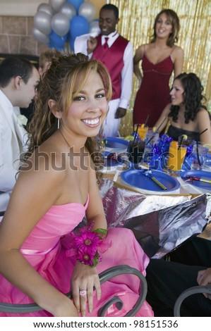Teenage Girl at Prom - stock photo