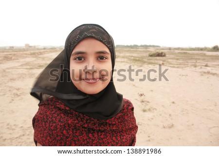 Teenage girl making pose - stock photo