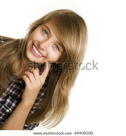 Teenage Girl Portrait - stock photo