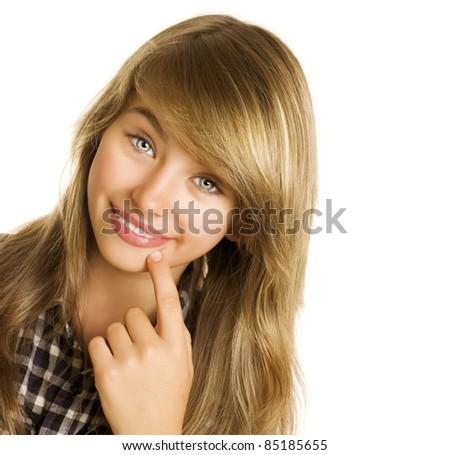 Teenage Girl Portrait - stock photo