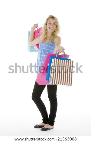 Teenage Girl Showing Off Her Shopping