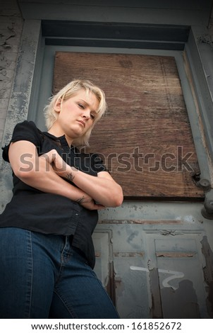 Teenage Homelessness - stock photo