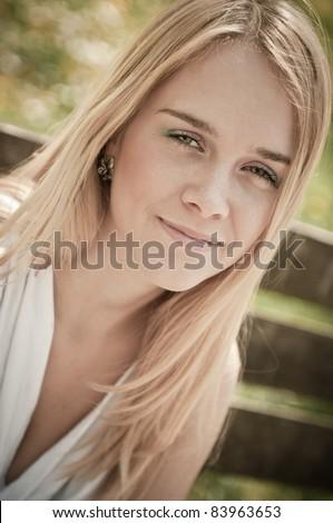 Teenage person portrait - stock photo