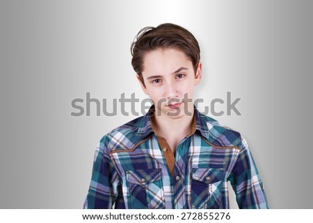 Teenager being doubtful about something - stock photo