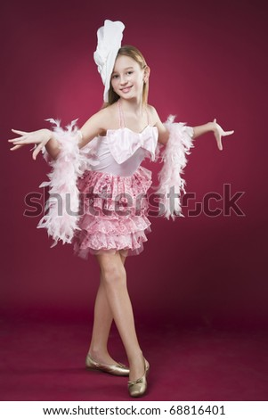 teenager girl at the theater - stock photo