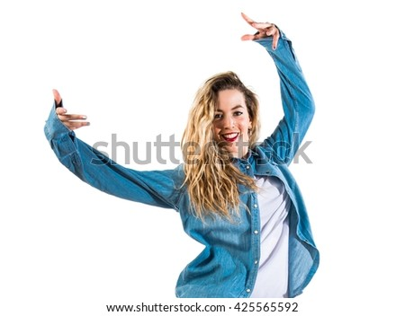 Teenager girl dancer - stock photo