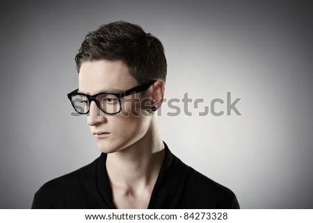 Teenager in glasses