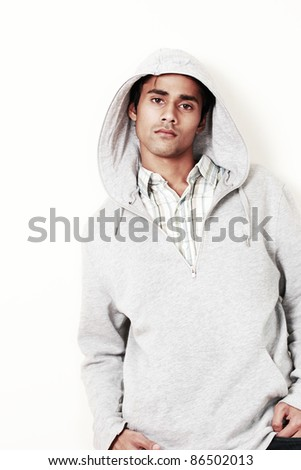 Teenager male in casual fashion portrait - stock photo