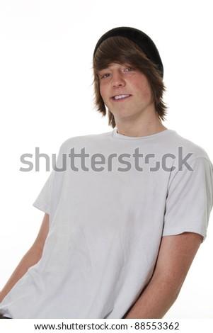 Teenager Male posing cool - stock photo