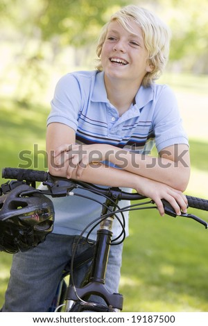 Teenager On A Bike