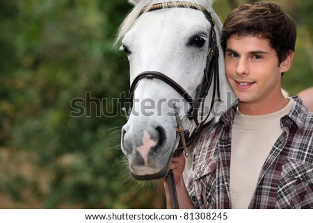 teenager with a horse