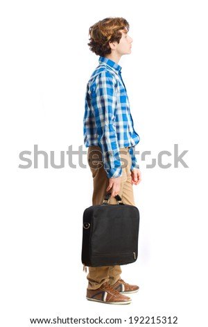 teenager with a suitcase