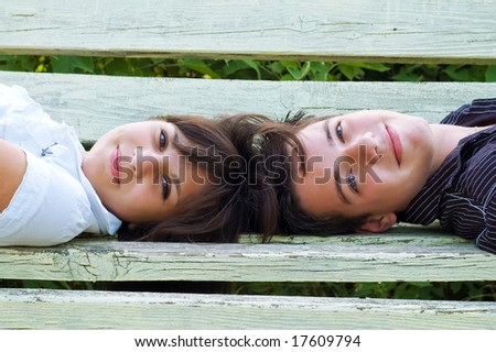teenagers smiling - stock photo