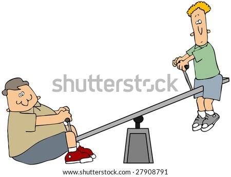 Teeter Totter - stock photo