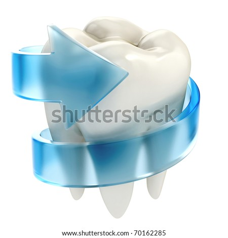 teeth protection 3d concept - stock photo