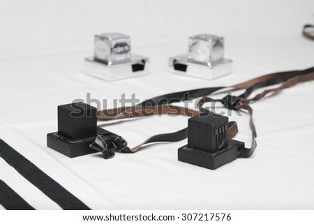 Tefillin and tallit - stock photo