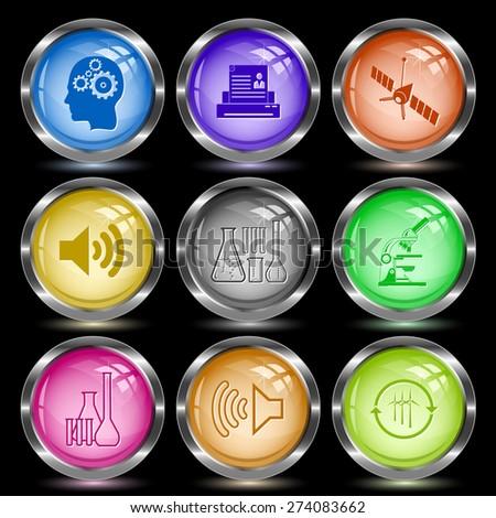 Tehnology set. Internet button. Raster illustration. - stock photo