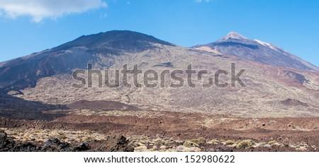 Teide peak on Tenerife. Teide National Park. Canary islands. Spain - stock photo