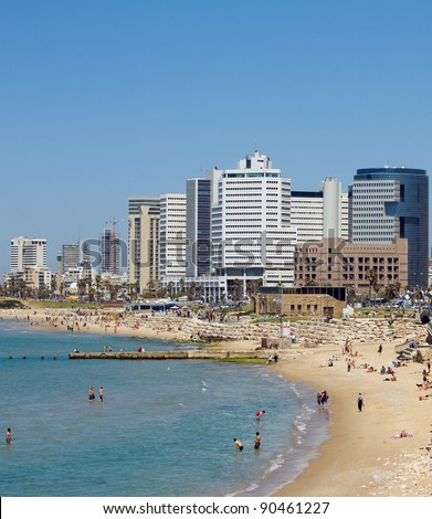 Tel-Aviv beach.Jaffa. Israel. - stock photo