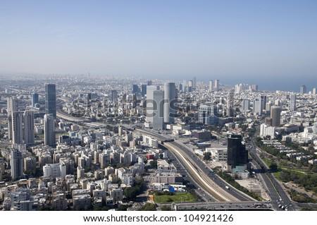 Tel Aviv cityscape - stock photo