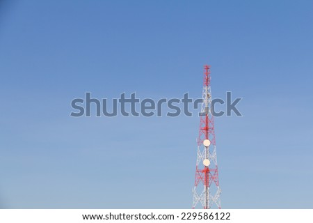 Tele-radio tower. Elemen of design. - stock photo