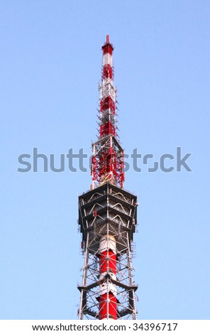 Tele staition tower in Saint-Petersburg Russia - stock photo