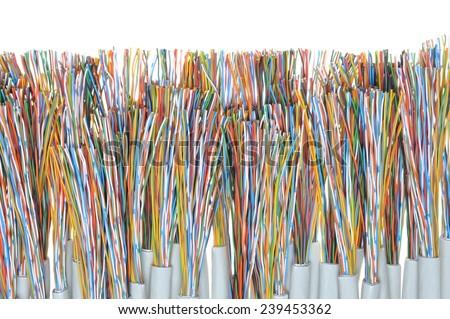 Telecommunication cables - stock photo