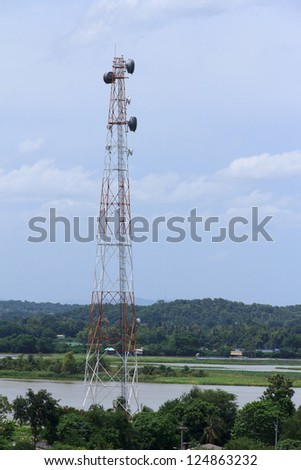 telecommunication mast in rural areas