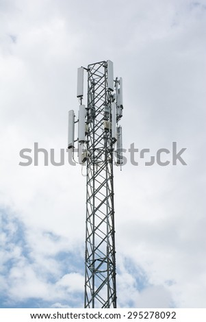 Telecommunication post in urban area.