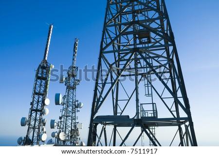telecommunications towers - stock photo