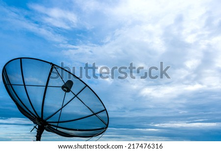 telecoms on the beautiful clouds - stock photo