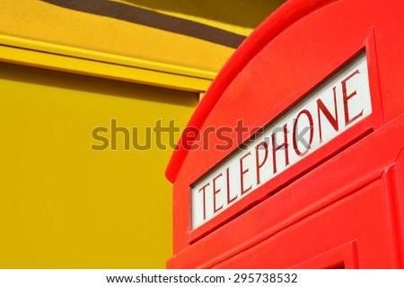 telephone box  - stock photo