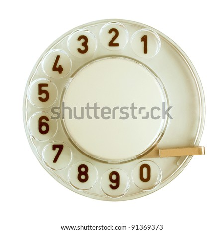 Telephone disk on a white background. - stock photo
