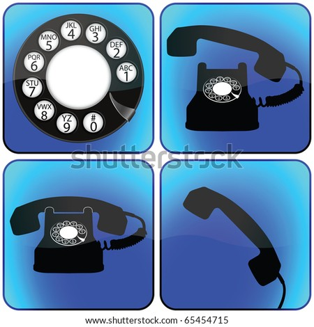 telephone icons collection against white background, abstract art illustration; for vector format please visit my gallery - stock photo