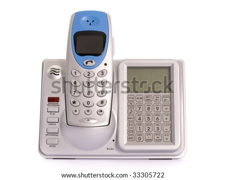 telephone isolated on the white background