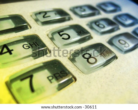 Telephone key pad - stock photo