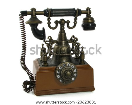 Telephone. Old phone, probably is useful for phone number instructions in advertising.