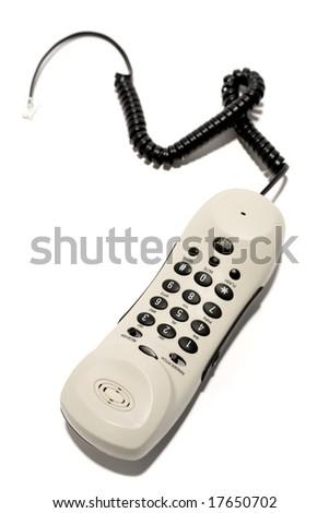 Telephone on white - stock photo