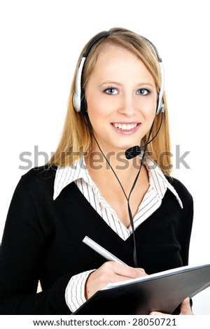 telephone operator - stock photo