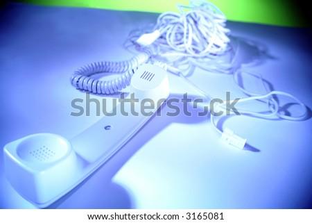 Telephone receiver - stock photo